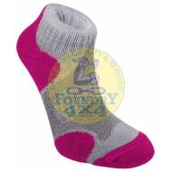 Bridgedale Womens Coolfusion Multisport Grey / Raspberry Socks Medium