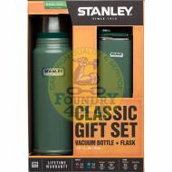 Stanley Stainless Steel 1 Litre Flask & 236ml Vacuum Bottle Classic Gift Set