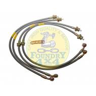 Land Rover Discovery 2 +150 Extended Stainless Steel Braided Brake Hose Kit