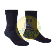 Bridgedale Mens Merino Endurance Explorer Heavyweight Black Expedition / Mountain Socks Large